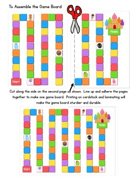 Candy Land Game - Beginning and Ending Digraphs - ch, sh, th, wh