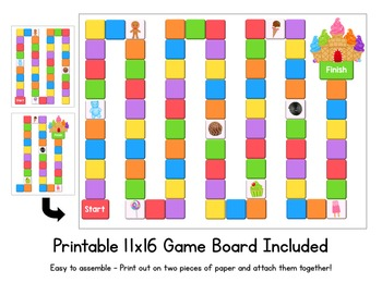 Candy Land Game - First Hundred FRY Words