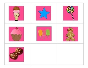 Candy Land Game Pieces - 1st Grade Sight Word Review