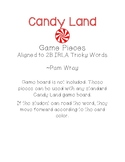 Candy Land Game Pieces (aligned to 2B IRLA Tricky Words)