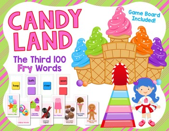 Candy Land Game - Third Hundred FRY Words