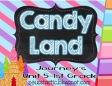 Candy Land Journey's Unit 5-1st Grade