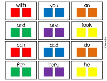 Candy Land Kindergarten Sight Word Cards