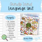 Candy Land Language Unit: Wh- Questions, 2-Step Directions, Grammar, & More