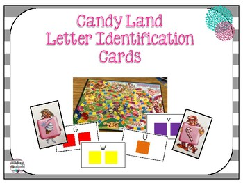 Candy Land Letter Identification Cards