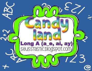 Candy Land Long A (a_e, ay, ai) Game