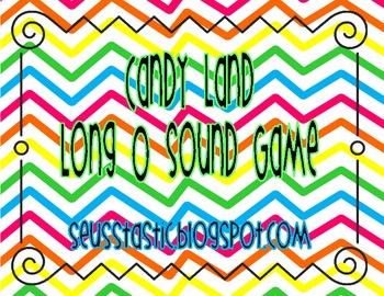 Candy Land Long  O (o_e, -oa, -ow, +) Game
