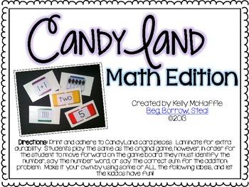 Candy Land Math {FREEBIE}!