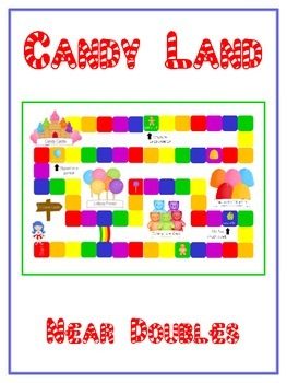 Candy Land Math Folder Game - Common Core - Adding Near Doubles