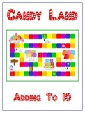 Candy Land Math Folder Game - Common Core - Adding to 10