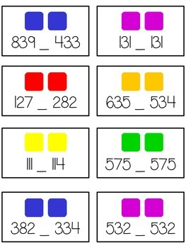 Candy Land Math Folder Game - Common Core - Comparing 3 Digit Numbers