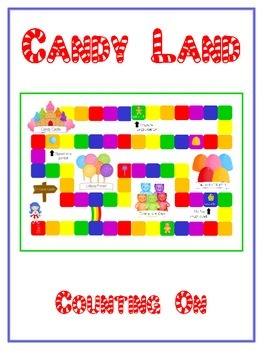Candy Land Math Folder Game - Common Core - Counting On From Number