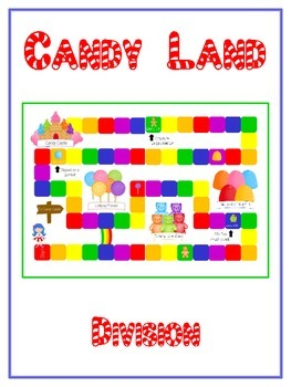 Candy Land Math Folder Game - Common Core - Division - Div
