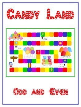 Candy Land Math Folder Game - Common Core - Even and Odd Numbers