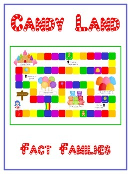 Candy Land Math Folder Game - Common Core - Fact Families
