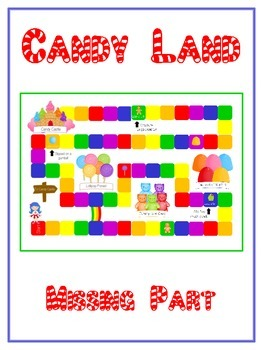 Candy Land Math Folder Game - Common Core - Finding the Missing Part