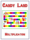 Candy Land Math Folder Game - Common Core - Multiplication