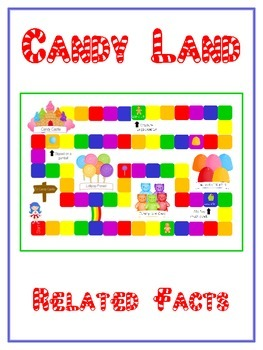 Candy Land Math Folder Game - Common Core - Related Facts
