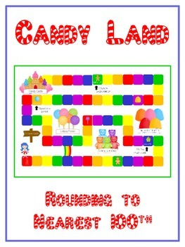 Candy Land Math Folder Game - Common Core - Rounding to Ne
