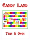 Candy Land Math Folder Game - Common Core - Tens and Ones - Place Value
