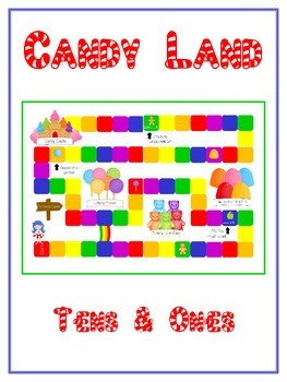 Candy Land Math Folder Game - Common Core - Tens and Ones