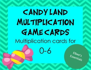 Candy Land Multiplication Cards (0-6)