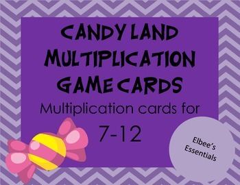 Candy Land Multiplication Cards (7-12)