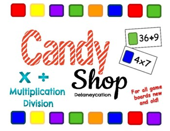 Candy Shop Multiplication & Division Game