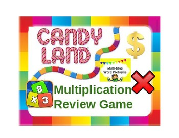 Candy Land Multiplication Review Game