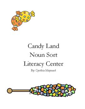 Candy Land Noun Sort Literacy Center