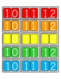 Candy Land Number Cards 0-20