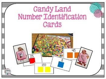 Candy Land Number Identification Cards