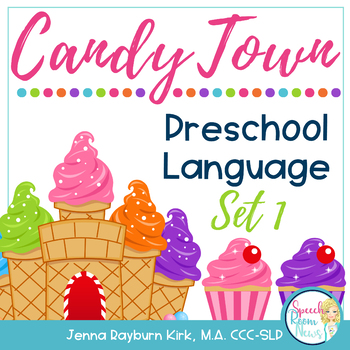Candy Town Preschool Language Cards Set One