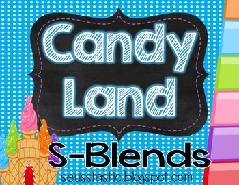 Candy Land S-Blends Game
