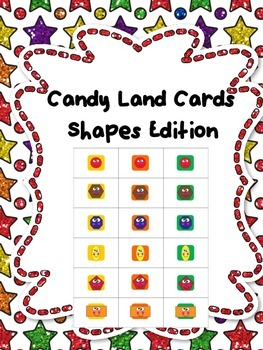 Candy Land Shape Edition Cards Board Game