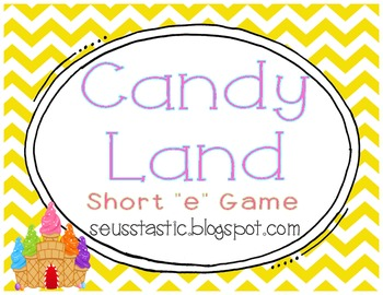"Candy Land Short ""E"" Game"