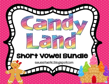 Candy Land Short Vowel Games (Bundled)