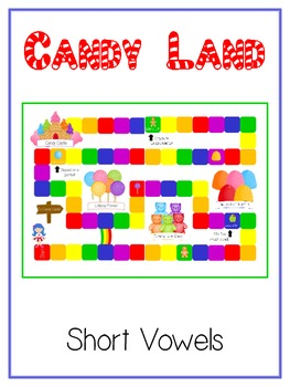 Candy Land - Short Vowels - Word Work Folder Game - Common Core Aligned - LA Fun