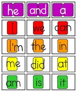 Candy Land Sight Word Cards (Kindergarten)