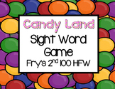 Candy Land Sight Word Game-Fry's 2nd 100 HFW
