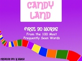 Candy Land Sight Word Game (Words 1-30)