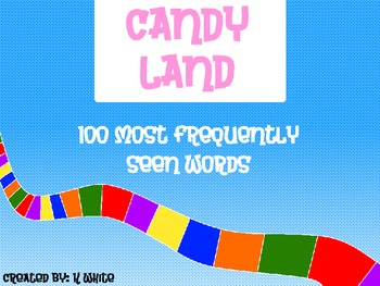 Candy Land Sight Words (100 words)