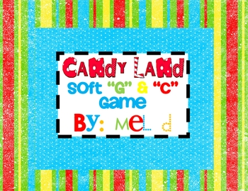 "Candy Land Soft ""G"" & ""C"" Game"