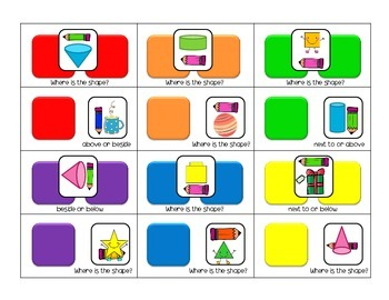 Candy Land Style ~ Positional Words, 2D & 3D Game