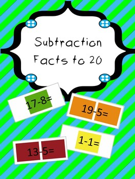 Candy Land - Subtraction using numbers to 20