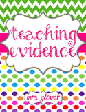 Teacher Evaluation Evidence Binder - Charlotte Danielson Model - Candy Land