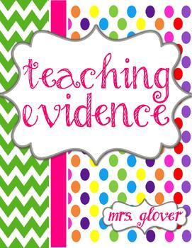 Teacher Evaluation Evidence Binder - Charlotte Danielson Model - Candy Land