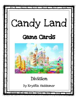 Candy Land game cards - Division