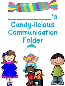 Candy Land inspired communication Folder Cover