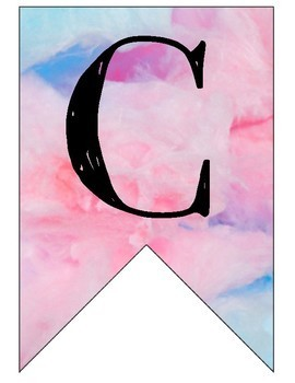 Candy Land watercolor/cotton candy banner